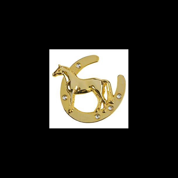 Broche, hestesko med hest